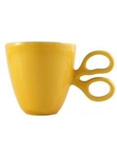 Taza Entrecortada Amarillo de Selección tazas en el bazar en Línea - Sacional