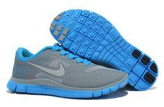 Nike Free Run 4.0 V2 Zapatillas para Mujer Cool Grises/Azules http://