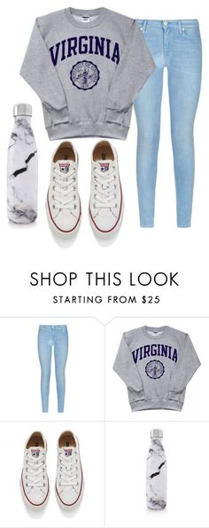 """""""chill:)"""" by niamhbrid on Polyvore featuring 7 For All Mankind, Converse and S'well"""