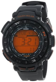 Casio Men's PAG240-8 Pathfinder Triple Sensor Tough Solar Digital Watch - The new PAG240 has all the same great Triple Sensor functionality you've come to love in its predecessor, but now it's equipped with Self-Charging, Tough Solar Power, employs more functional exterior case design, has a host of additional features.