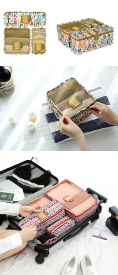 Getting ready for your next travel couldn't get any easier with the Journey Block Pouch Set! It includes 3 pouches of different sizes that make it easy to pack and organize your items for your travel. They have a fun and cute design, and also PVC coated to be durable and also water resistant. Your next trip will be much more enjoyable with these pouches! Pvc Coat, Craft Organization, Adventure Is Out There, Cute Designs, Pouches, Traveling By Yourself, Organize, Journey, Water