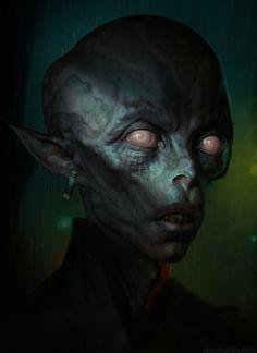 Morbid Fantasy • Dark Elf – character concept by Sam Rowan