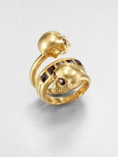 Love the Alexander McQueen New Twin Ring/Gold on Wantering.