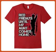 Mens Red military shirt - Red Fridays for Deployed Aunt 3XL Cranberry - Relatives and family shirts (*Partner-Link)