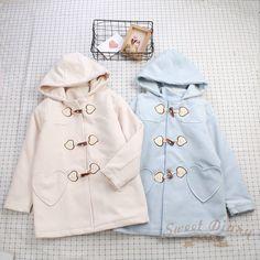 Winter Japanese Vintage Mori Girl Sweet Lolita Thicken Wool Jacket Coat Overcoat