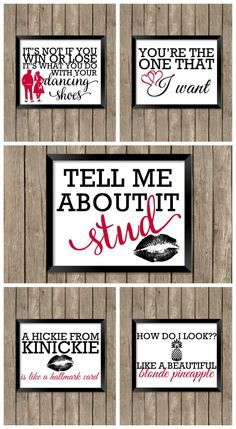 Grease Printables - Grease is still the word so celebrate your love of Sandy, Danny, and friends with these 5 free printables! Perfect to frame or as cards! | The Love Nerds