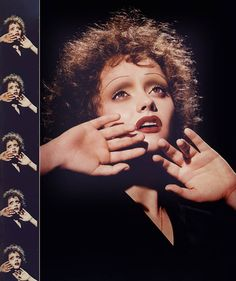 Christina Ricci as Edith Piaf by makeup genius Kevyn Aucoin