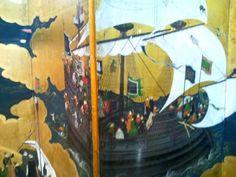Oriental screen painting at Museu Nacional de Arte Antiga in Lisbon: http://www.europealacarte.co.uk/blog/2012/05/21/museu-nacional-de-arte-antiga-lisbon/