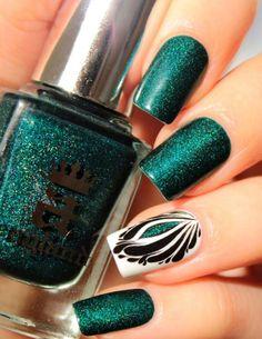 Śliczne wzorki na paznokcie w stylu art deco