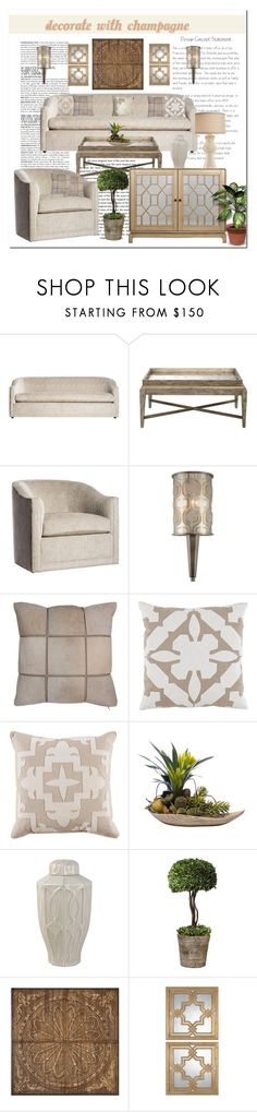 """""""Decorate With Champagne"""" by victorianheaven ❤ liked on Polyvore featuring interior, interiors, interior design, home, home decor, interior decorating, McGinn, Varaluz, interiordesign and interiorstyle"""