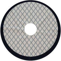 Simply Daisy 44 Round Diamond Dots Geometric Print Tree Skirt