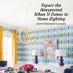 Using lighting in an unexpected way can grab your attention and create an interesting focal point. If you're ready to think outside the box, then check out our new #blog for tips on creating a unique and eye-catching space.  Room Design Pictured: @hisugarplum #CrystoramaStyle #lighting #tips #TipsAndTricks #styleblog