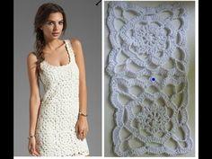 Квадратный Мотив к платью от JOIE.  crochet motif