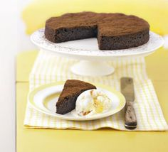 Dark and squidgy chocolate torte. This dessert is dark and dense, but not so rich it defeats you. It freezes brilliantly too Bbc Good Food Recipes, Sweet Recipes, Baking Recipes, Cake Recipes, Baking Ideas, Chocolate Torte, Chocolate Desserts, Melting Chocolate, Xmas Desserts