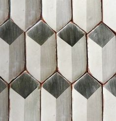Corteo 5- Picket in charcoal & gray. Available in more colours at World Mosaic Tile | www.worldmosaictile.com