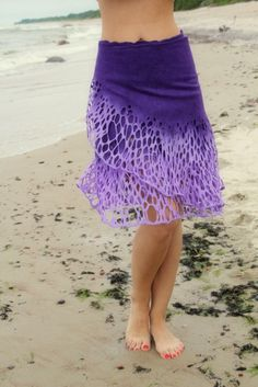"Felted skirt ""Violet touch"""