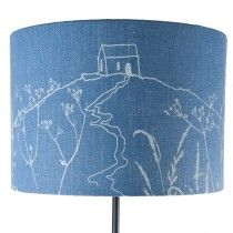 Rame Head Collection - Hand Printed Linen Lampshade