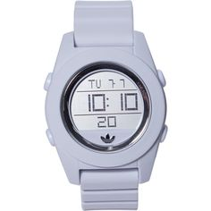 ADIDAS ADH2984 White Watch ($43) ❤ liked on Polyvore featuring jewelry, watches, digital wrist watch, stainless steel watches, digital watches, stainless steel wrist watch and bezel jewelry