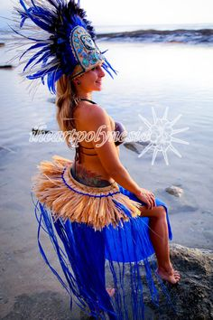 Tahitian dance costume banded small half hip belt - All colors I have listed will ship within 1- 3 days of purchase -  This listing is the banded