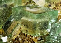 A super specimen of cubic Fluorite crystals showing excellent Fluorite phantoms from the Huangshaping Mine, Hunan Province, China.  Crystal Classics Minerals