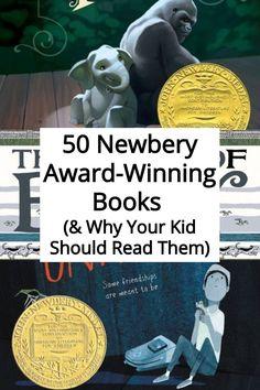50 Newbery Award-Winning Books & Why Your Kid Should Read Them - Kids Audio Books - ideas of Kids Audio Books - 50 Newbery Award-Winning Books & Why Your Kid Should Read Them Audio Books For Kids, Books For Boys, Childrens Books, Teen Books, Read Aloud Books, Good Books, Ya Books, Newbery Award, Newbery Medal