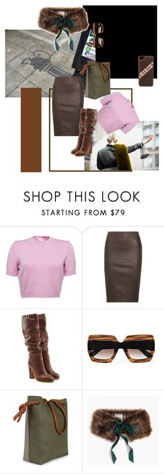 """city street 2018"" by roxariaone ❤ liked on Polyvore featuring Polaroid, By Malene Birger, See by Chloé, Gucci, Esin Akan and J.Crew"
