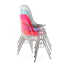 Eames-Ghost-Style-ACRYLIC-Stacking-DSS-Mid-Century-Modern-Dining-Side-Chair