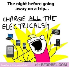 The Night Before Going Away On A Trip…