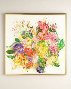 """""""Nosegay""""+Original+Painting+by+RFA+Fine+Art+at+Neiman+Marcus."""