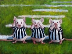 Three Blind Mice Canvas Art - Lucia Heffernan x Three Blind Mice, Canvas Art Prints, Painting Prints, Fine Art Prints, Paintings, Framed Prints, Dandelion Wall Decal, Creation Photo, Animal Illustrations