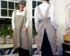 """Rough Linen™ real, natural linen pinafore - on my """"must have"""" list."""
