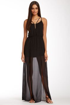 ASTR | ASTR Cutout Strappy Maxi Dress | Nordstrom Rack
