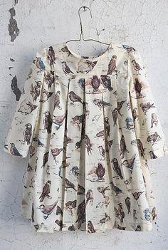 Sailor Rose Ornithology Box-Pleat Dress