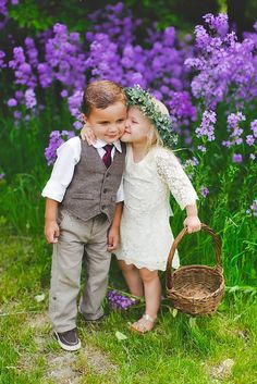 Ring Bearer & Flower Girl - Super Cute Wedding Guests ❤ See more: http://www.weddingforward.com/ring-bearer/ #weddings #photography