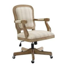 Add a traditional look to your décor with the Linon Maybell Stripe Upholstered Adjustable Height Office Task Chair . This office task chair features.