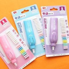 Creative Candy Color Electric Eraser Set Pencil Eraser Rubber Eraser Student Prizes Promotional Gift Stationery