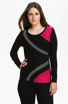 Nic + Zoe Colorblock Sweater (Petite) available at #Nordstrom