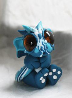 Swirly Blue Baby Dragon