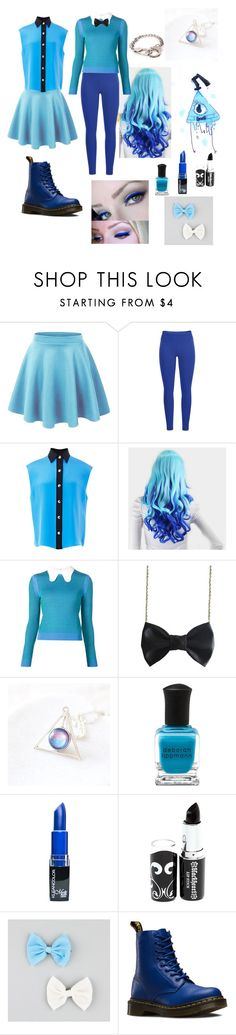 """""""Reverse Bill Cipher Inspired Look"""" by dissyd311 ❤ liked on Polyvore featuring Black Diamond, FAUSTO PUGLISI, Carven, Freena, Deborah Lippmann, Full Tilt, Dr. Martens, women's clothing, women's fashion and women"""