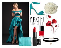 """""""Prom Night"""" by muskrosevintage ❤ liked on Polyvore featuring Rachel Allan, Alexandre Birman, Gum by Gianni Chiarini, Betsey Johnson, NARS Cosmetics, Chanel, PROMNIGHT and polyvorecontest"""