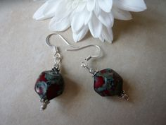 Red and Grey Earrings £3.00