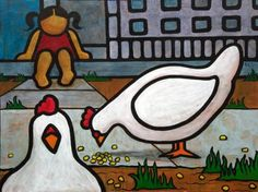 Yvonne Lozano #art #paintings #chickens