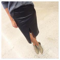 Twist & Tango AW15 @twistandtango #leatherskirt