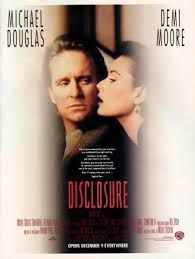 An original, rolled one-sheet movie poster x from 1994 for Disclosure with Demi Moore and Michael Douglas. Disclosure Film, Donald Sutherland, Michael Moore, Perfect Strangers, Demi Moore, Cinema Posters, Original Movie Posters, Movie Photo, Film Movie