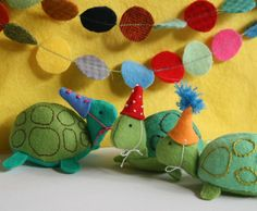 Free Felt Patterns and Tutorials: Free Felt Pattern & Tutorial > Party Turtles