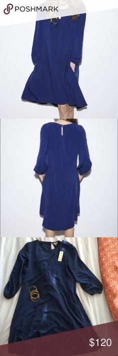 The Odells Navy dress 100% Rayon SUPER SOFT! Loose fit, good for size 4-8. The Odells Dresses High Low