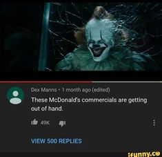 Dex Manns - 1 month ago (edited) These McDonald's commercials are getting out of hand. q: - iFunny :) Memes Estúpidos, Best Memes, Comedy Memes, Really Funny Memes, Stupid Funny Memes, Funny Shit, Funny Stuff, Hilarious, Stupid Stuff