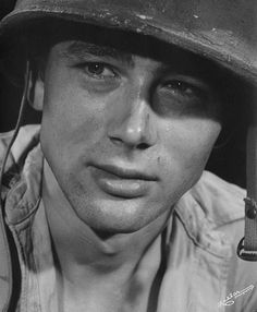 James Dean in his movie debut Fixed Bayonets, 1951