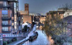 Canal near the Cube, Birmingham UK