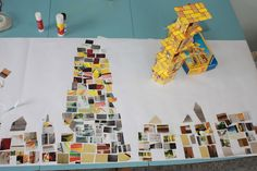 The Tower of Babel - have children glue down bricks made of pictures illustrating things that take people away from God- things that make people get together and start to think that together they are better then God.